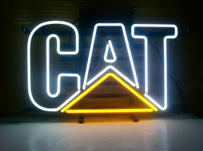 CAT logo Classic Neon Light Sign 17 x 14