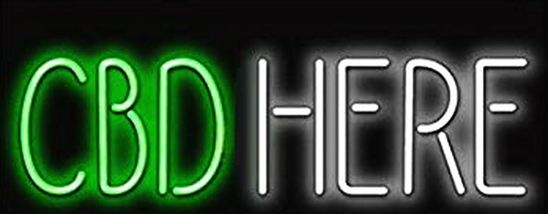 CBD Here Neon Sign