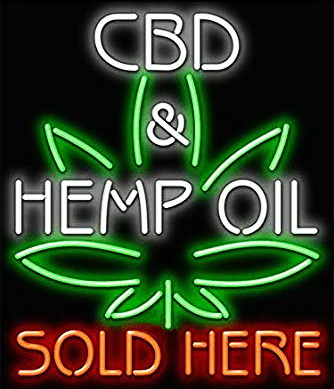 CBD and Hemp Oil Neon Sign