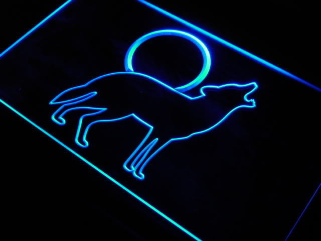 COYOTE HOWLING Home Decor Animal Neon Light Sign