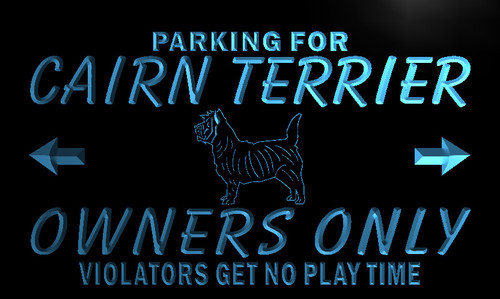 Cairn Terrier Owners Parking Neon Light Sign