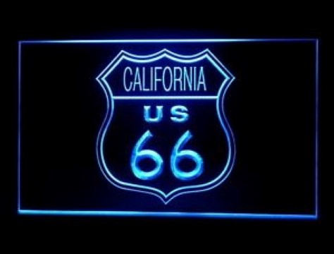 California Route 66 LED Neon Sign