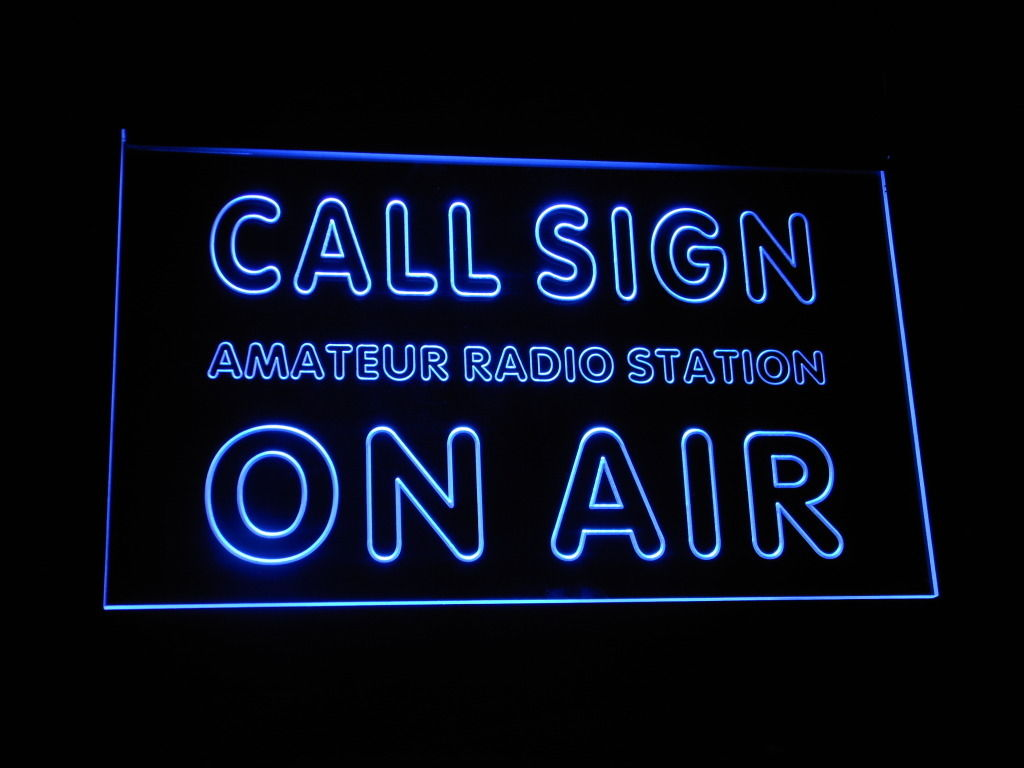 Call Sign On Air LED Light Sign