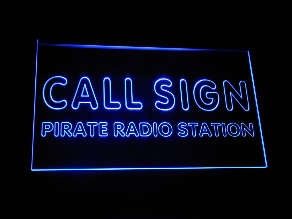 Call Sign Pirate LED Light Sign