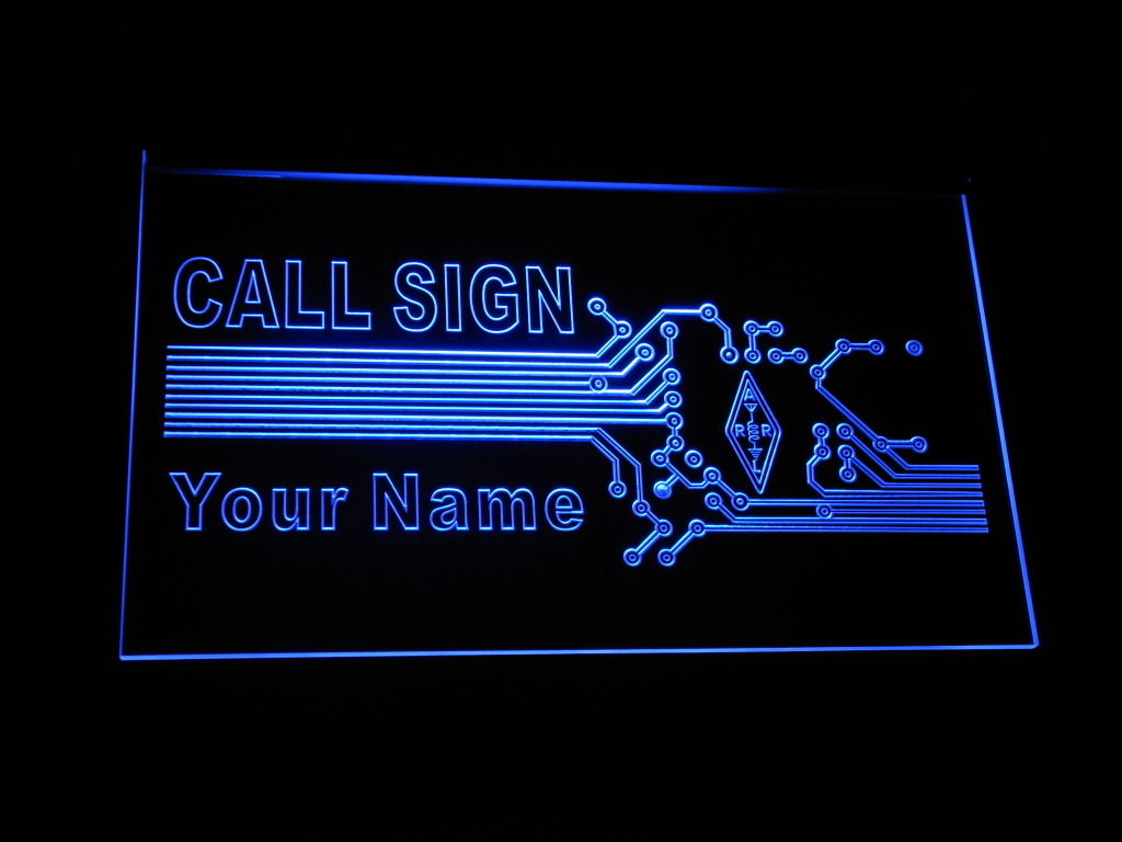 Call Sign Your Name LED Sign