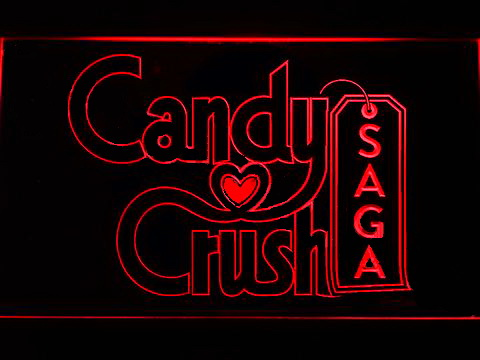Candy Crush Saga LED Neon Sign