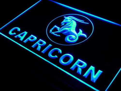 Capricorn Zodiac LED Light Sign