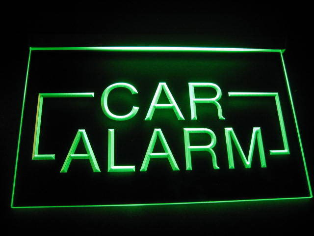 Car Alarm LED Light Sign