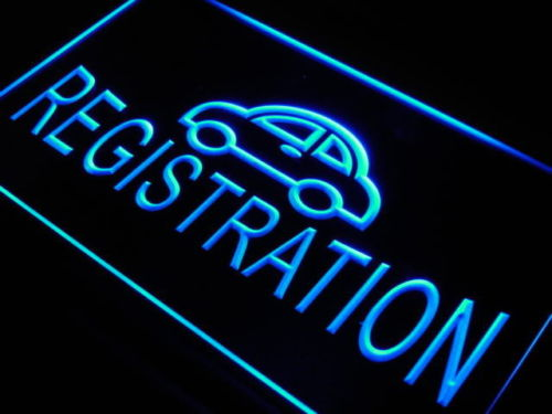 Car Registration LED Light Sign