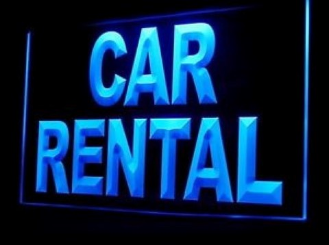 Car Rental LED Neon Sign