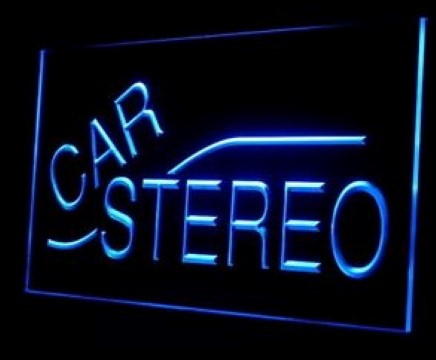 Car Stereo Audio Installs LED Neon Sign