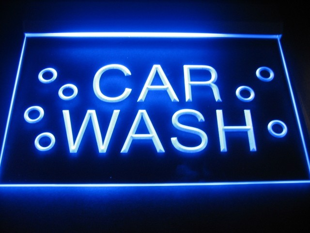 Car Wash LED Light Sign