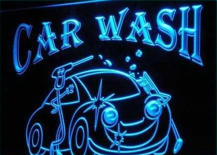 Car Wash VW LED Light Sign