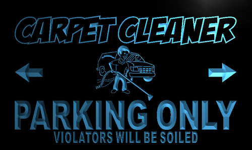 Carpet Cleaner Parking Only Neon Light Sign