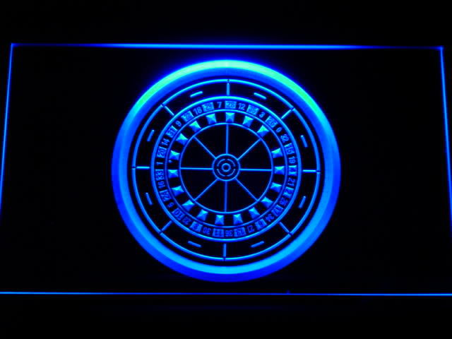 Casino Roulette Game Neon Light Sign
