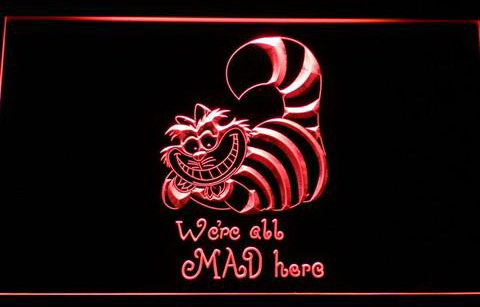 Cat Alice in Wonderland The Cheshire LED Neon Sign
