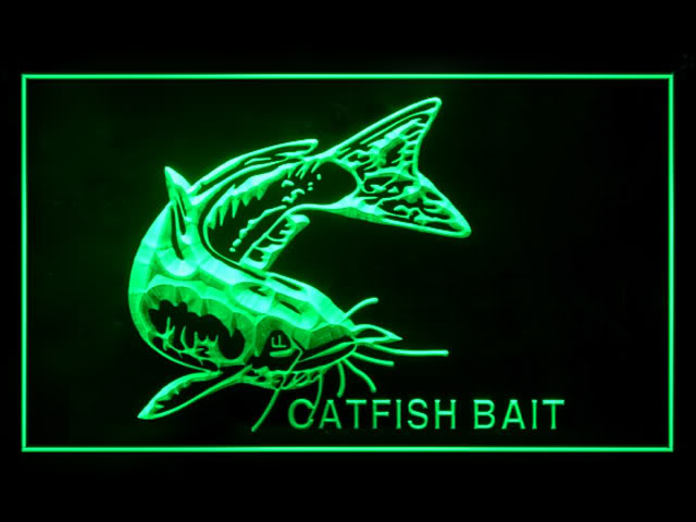 Catfish Bait Fishing Fish Shop Display Led Neon Sign