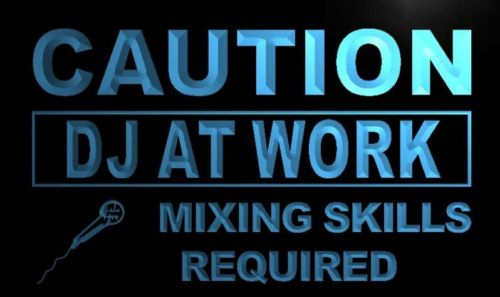Caution DJ At Work Neon Light Sign
