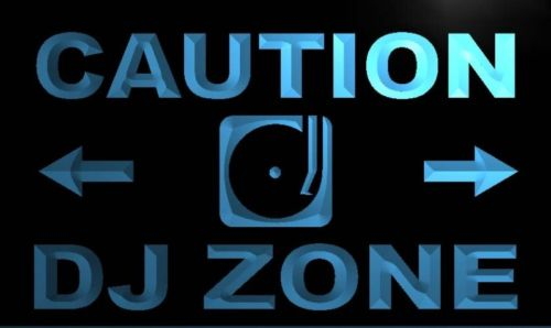 Caution DJ Zone Neon Light Sign