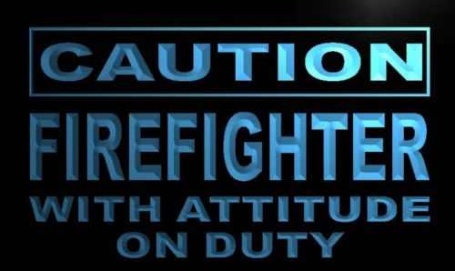 Caution Firefighter Neon Light Sign
