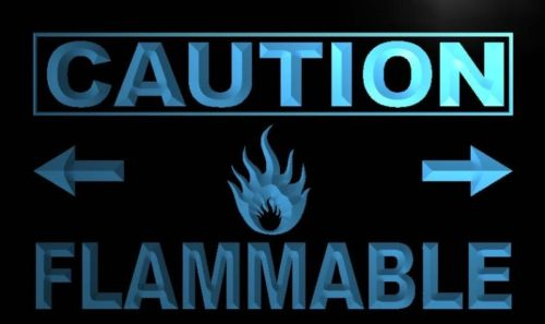 Caution Flammable Neon Light Sign