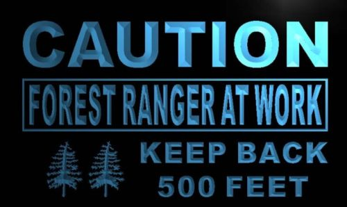 Caution Forest Ranger At Work Neon Light Sign