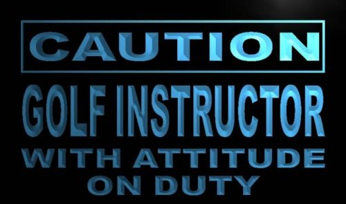 Caution Golf Instructor Neon Light Sign