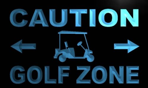 Caution Golf Zone Neon Light Sign