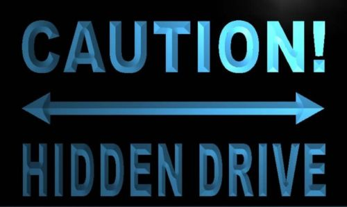 Caution Hidden Drive Neon Light Sign