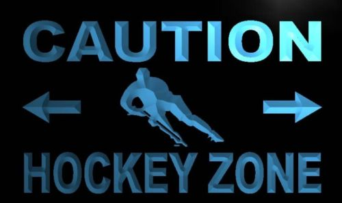 Caution Hockey Zone Neon Light Sign