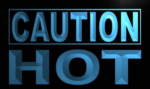 Caution Hot Neon Light Sign