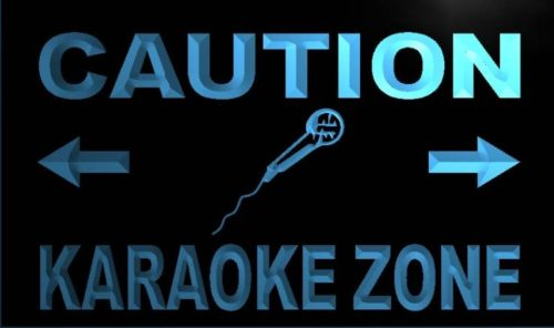 Caution Karaoke Zone Neon Light Sign