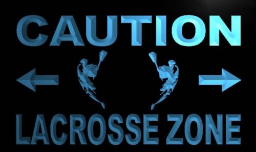 Caution Lacrosse Zone Neon Light Sign