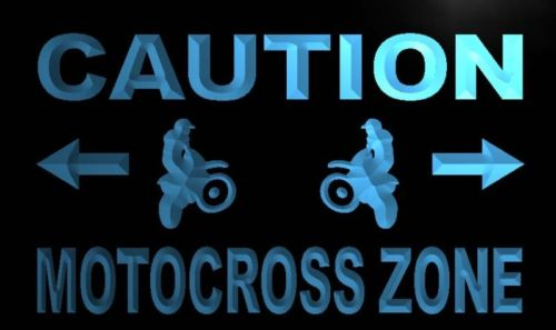 Caution Motocross Zone Neon Light Sign