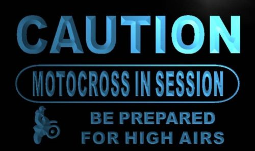 Caution Motocross in session Neon Light Sign