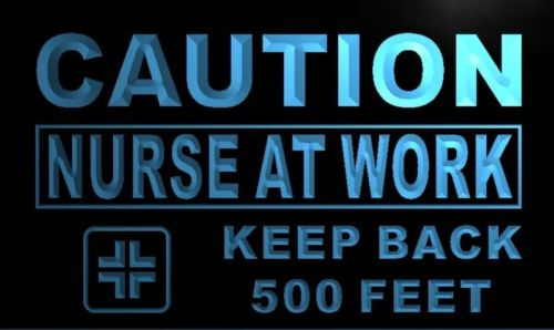 Caution Nurse at Work Neon Light Sign