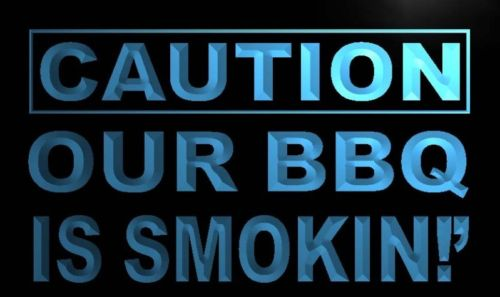 Caution Our BBQ is Smoking Neon Light Sign