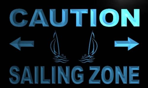 Caution Sailing Zone Neon Light Sign