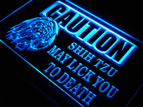 Caution Shih Tzu Lick Dog Pet Neon Light Sign