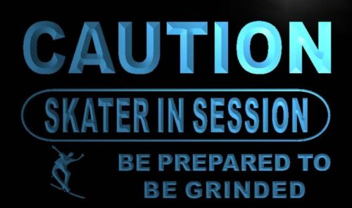 Caution Skater in session Neon Light Sign
