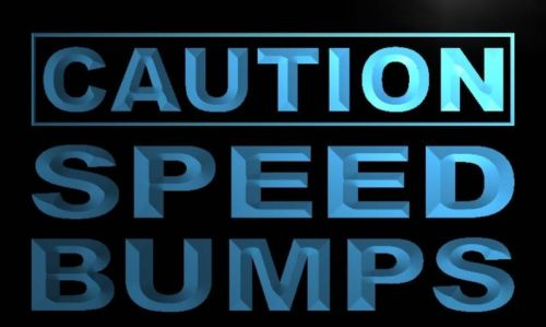 Caution Speed bumps Neon Light Sign