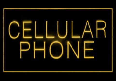 Cellular Mobile Phone LED Neon Sign
