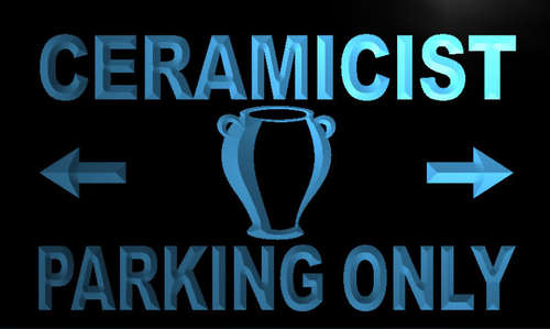 Ceramicist Parking Only Neon Light Sign