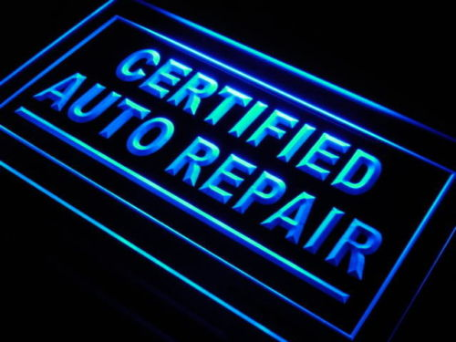 Certified Auto Repair LED Sign