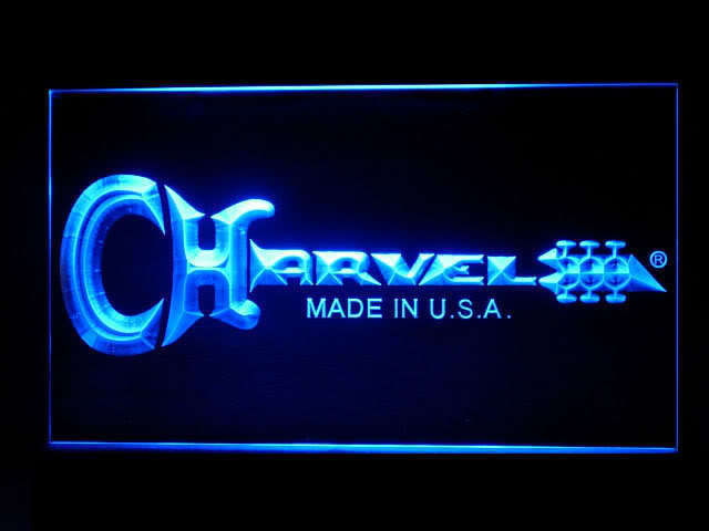 Charvel Guitar Display Led Light Sign
