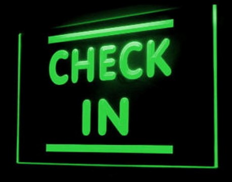 Check In Hotel Motel Here LED Neon Sign