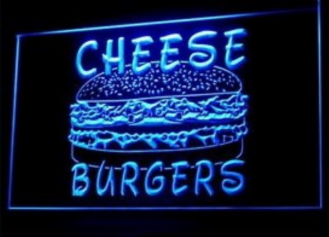 Cheese burgers LED Neon Sign