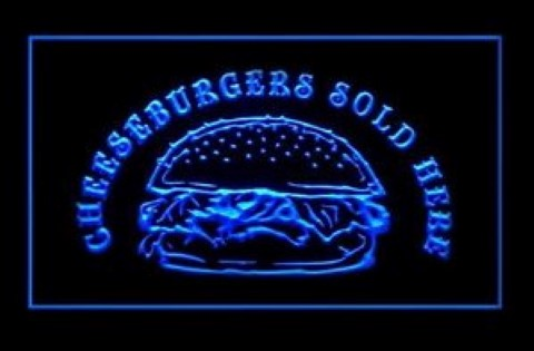Cheeseburger Sold Here LED Neon Sign