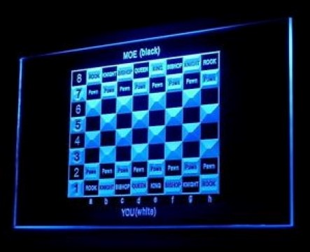 Chess Board Game Checkmate LED Neon Sign