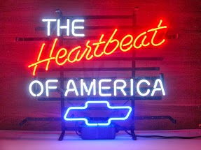 Chev Heartbeat of America Classic Neon Light Sign 17 x 14
